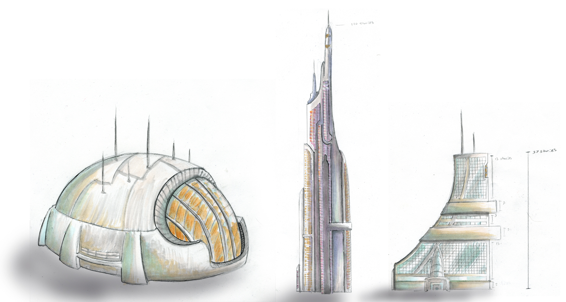 Cross fox media and design blog archive concept for a city Concept buildings